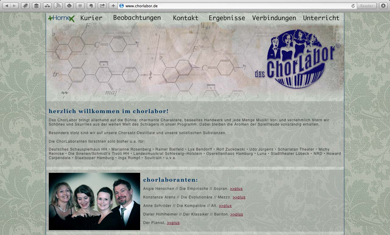 Chorlabor - Alte Website